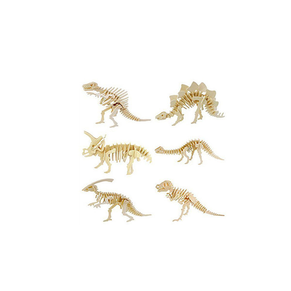 3D Puzzles three-dimensional puzzle children's educational toys handmade DIY dinosaur birthday model making creative cheap toys gifts