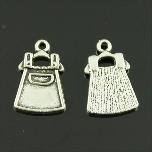 150pcs fascini del vestito dalla cinghia del vestito dalla cinghia di fascino per monili che fanno i fascini antichi del vestito dalla cinghia dell'argento 11x18mm