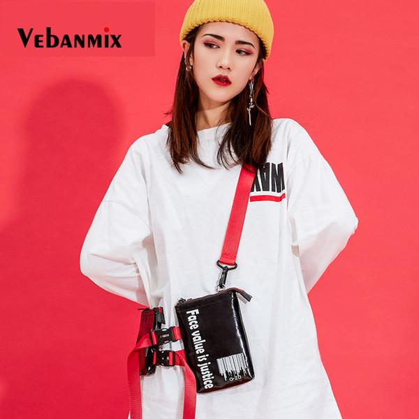 2019 ladies tactical chest bags brand pu leather belt bag fashion letter design fanny pack female shoulder crossbody bag thumbnail