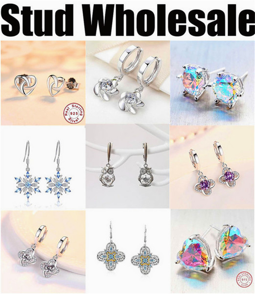 manufacturer wholesale earrings stub for women cheap high quality silver jewelry 2019 new free shipping designer blue round grey cycle