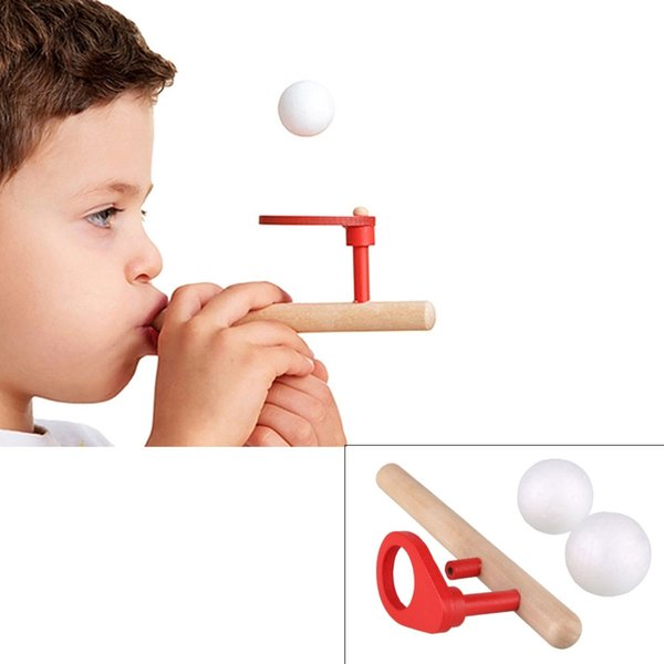 puzzle toy Baby Wooden Puzzle Toys Kids Blowing Ball Balance Training Blow Ball Rod Children Boys Girls Learning Educational Toy