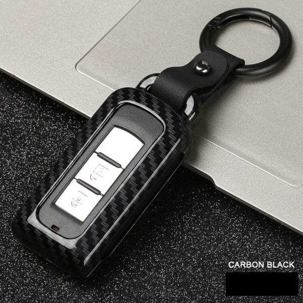 Carbon Fiber Alloy Car Key Case Smart Remote Car Key Case Cover Protector For Mitsubishi Outlander Lancer EX ASX Pajero