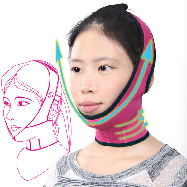 High Quality Red Face Mask Brace Shape Cheek Uplift Slim Chin Face Belt Bandage Health Care Weight Loss Product Face Massage C18112601