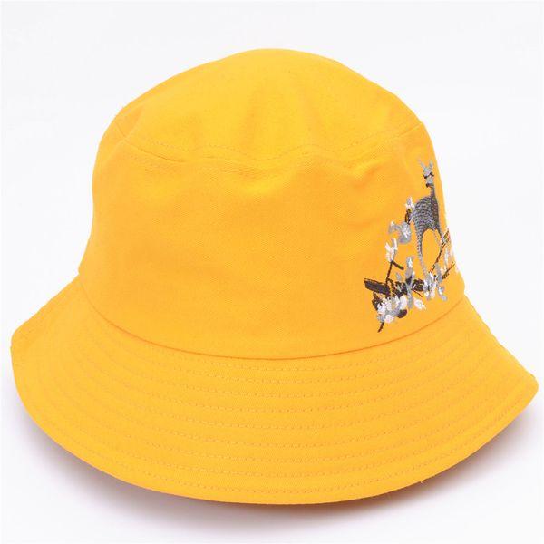 Beautiful Embroidery Bucket Hat Sun Hat for Women Summer Travel Beach Women Caps