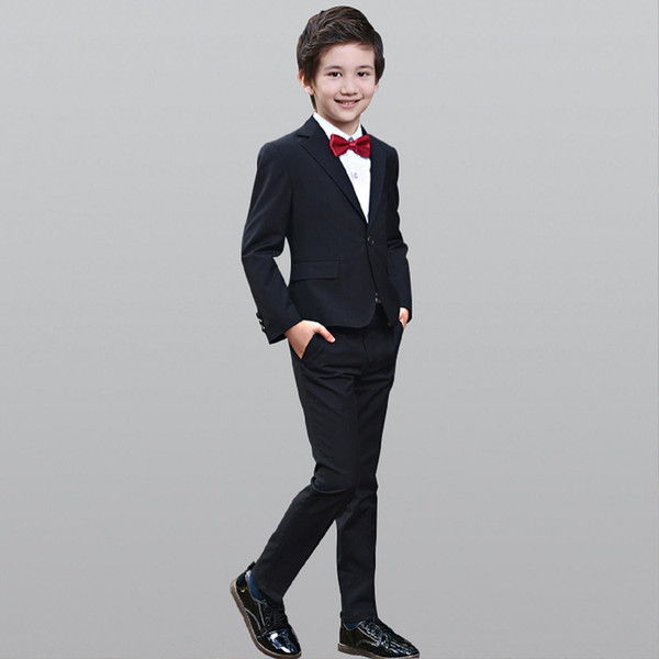 2019 Fashion Boy Suit Baby Boys Blazers Daily Dance Costume Casual Breasted Boy's Suit Flower Cool Boy Casual Cloth X1005