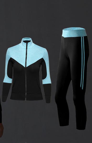 Marke frauen trainingsanzüge mode dreiteilige anzug damenbekleidung atmungs designer für sport baumwollmischung trainingsanzüge s-2xl 4 farbe
