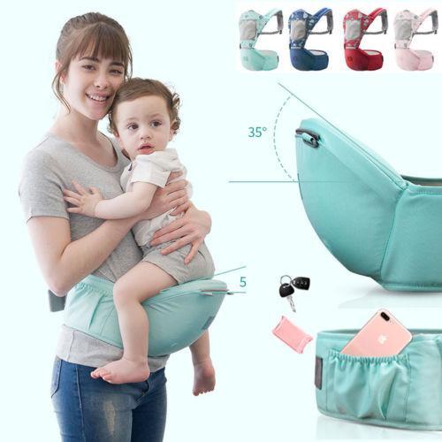 Ergonomisches Baby Neugeborenes Kleinkind Tragetasche Rucksack Vorne Hinten Hüfte Sitz Stuhl