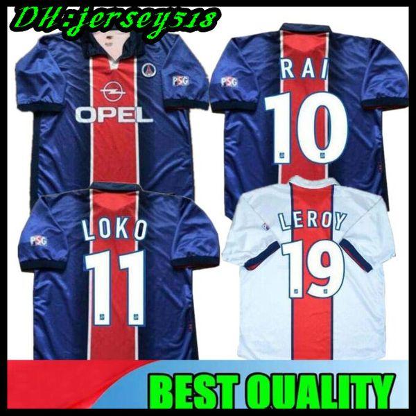 98 99 PSG Maglia da calcio retrò indossata SIMONE OKOCHA LEROY AVELAINE ADAILTON 1998 1999 Paris RAI classic paris camisas de futebol