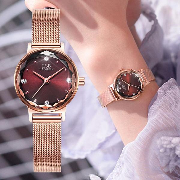 Neton hakiki elmas Kırmızı aynı kol saati Çevrimiçi kadın kuvars saatler moda trendi su geçirmez yeni öğrenci Korece Sürümü kakmalı