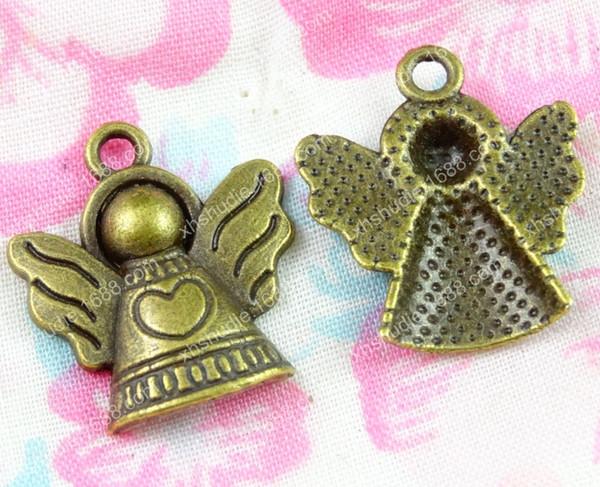 50pcs 19*21MM antique bronze tibetan alloy angel flying fairy charms for bracelet vintage metal pendants earring handmade DIY jewelry making