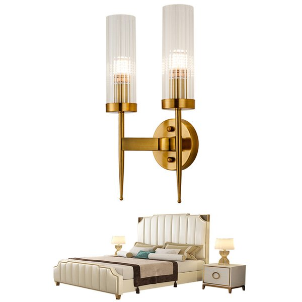 Nordic corridor bedside wall lamp LED light luxury post-modern simple creative living room crystal stair bedroom wall lamp