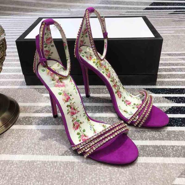 Lüks yüksek topuklu sandalet, saf el yapımı tasarımcı ilkbahar ve yaz sandalet, en kaliteli, boyut: 35-40, topuklu: 10.5cm