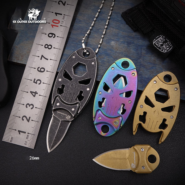 Stainless Steel Tactical Folding Knives Outdoors Camping and Hiking Tools Multi-functional Self defense Hunting Mini Key chain EDC Knife