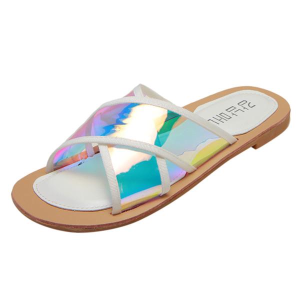 SAGACE 2019 Beach Style Pantofole donna dei sandali di modo scava fuori casuale della spiaggia delle donne pantofole diapositive casuale 9.031.325