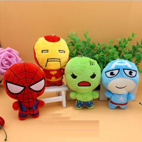 top popular 10cm JusticeLeague Captainn America Battman Spiderrman Hulkk Plush Toy Superheroo Stuffed Doll For Kids Children Girls gifts 2019