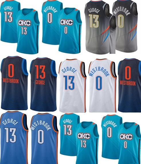 new style d4b3c 1d610 2018 2018 Men Swingman Jersey 0 Russell Westbrook 13 Paul George 7 Carmelo  Anthony 100% Stitched Jerseys Cheap NCAA College From Kidsfocus, $15.08 |  ...