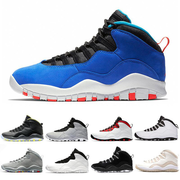 Tinker Huarache Light 10s Basketball Shoes Cement 10 Westbrook I'm back White Black Cool Grey Bobcats Steel Grey Men sports Sneakers 41-47