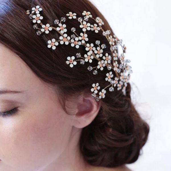 Fashion Small Crystal Flower Wedding Hair Combs for Bridal Hair Accessories Handmade Rhinestones Women Headdress Jewelry