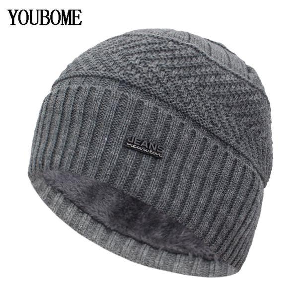 YOUBOME Skullies Gorros Sombreros de invierno Para Hombres Bufanda de punto  Sombrero de Mujer Gorras Hombre Cálido Cuello Suave Pasamontañas Sombrero  Gorros ... fb41d10e407
