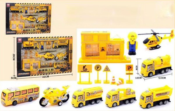 Spielzeug-Engineering-Fahrzeug für Kinder Militär-Raketenauto im Karton 1:64 Modell zurückziehen Auto Spielzeugauto-Set