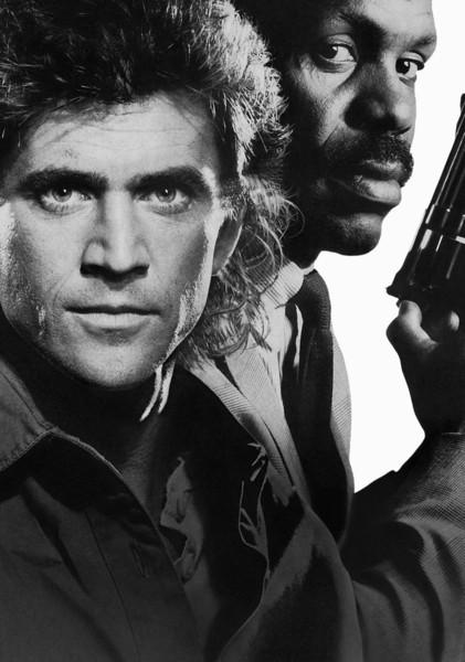LETHAL WEAPON Movie Textless Film Art Mel Gibson Action Art Póster con impresión de seda de 24x36 pulgadas (60x90cm)