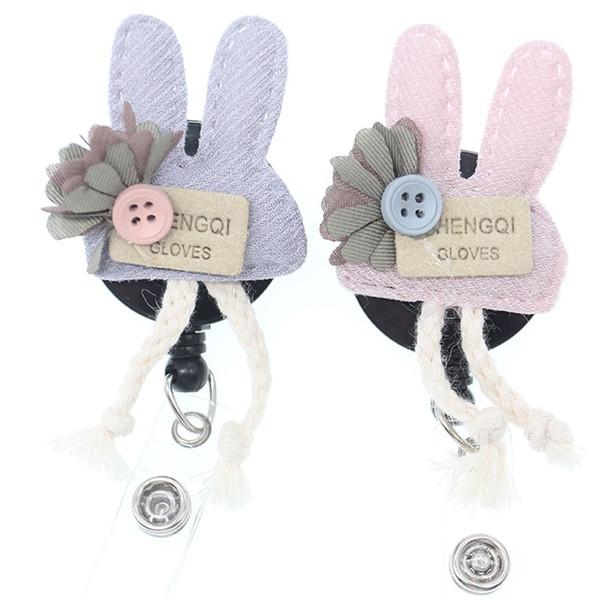 Jotome 20pcs 16kinds handmade cotton felt different style Retractable id badge holder/reel clip for nurse/nursing student