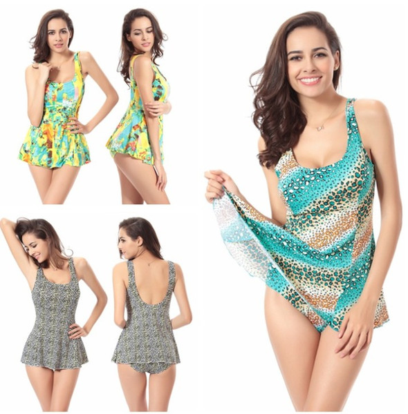 A full-size skirt one-piece swimsuit for ladies hot style on sale women's swimsuit