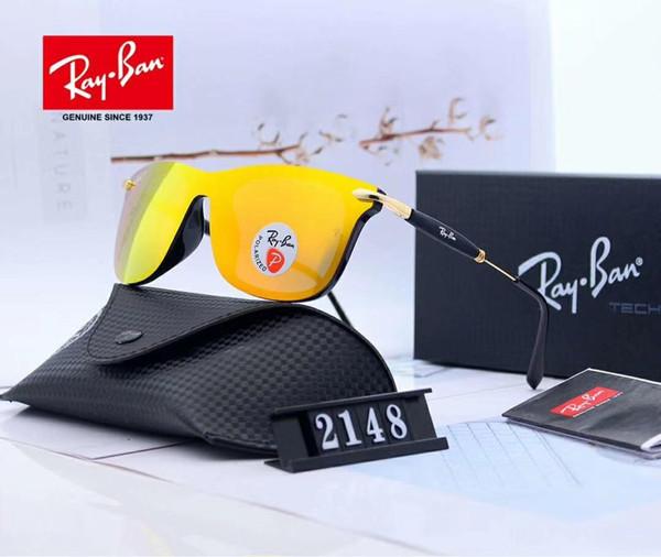 Yeni Moda Tasarımcısı Güneş Lüks Güneş Gözlüğü Marka Cam Mens Womens için Adumbral Gözlük UV400 2148 3 Renk Kutusu ile Yüksek Kalite