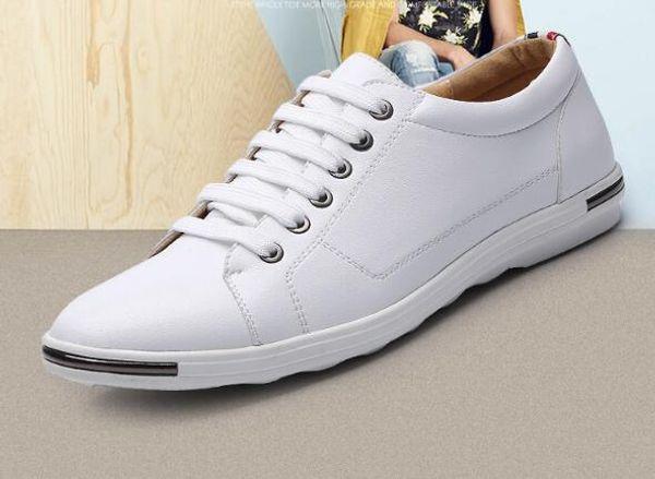 Zapatos de ocio de gran tamaño para hombres Zapatos de cuero transpirables de moda Zapatos de encaje para hombres WL838