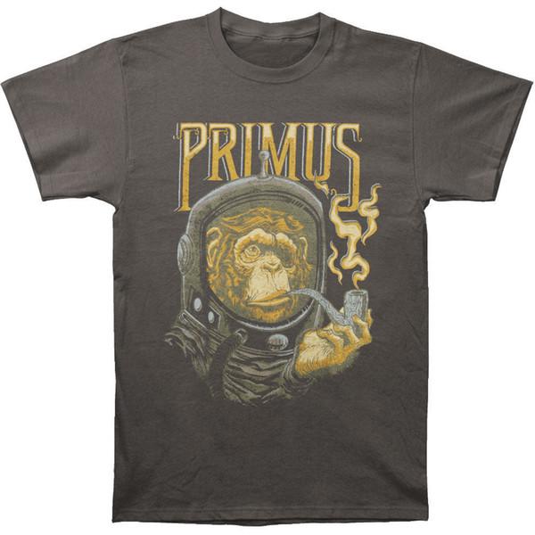 Primus Hommes Astro Monkey T-shirt Charcoal 2018 À Manches Courtes O-Cou 100% Coton Imprimé Hommes