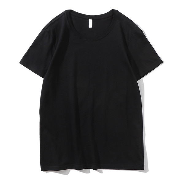 2019 New Solid color T Shirt Mens Black And White 100% cotton T-shirts Summer Skateboard Tee Boy Skate Tshirt Tops