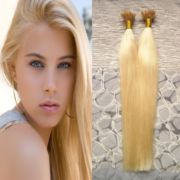 "blonde brazilian hair 1g/s Remy Pre Bonded Human Hair Extension Straight 16"" 18"" 20"" 22"" U Tip Keratin Hair Extension Fusion 200pcs"