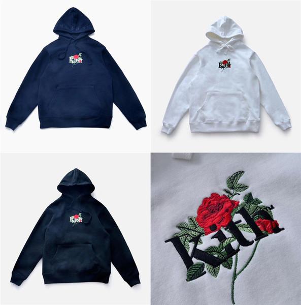 Gestickte Rosen Kith Hoodie Männer Frauen 1: 1 Top-Qualität KITH Hoodies Sweatshirts KITH Pullover