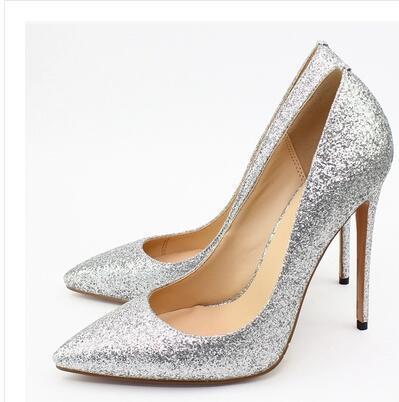 2018 moda feminina sexy saltos altos 12 cm rebites sapatos fundo vermelho saltos finos bombas de moda sapatos EU com tamanho 34--45