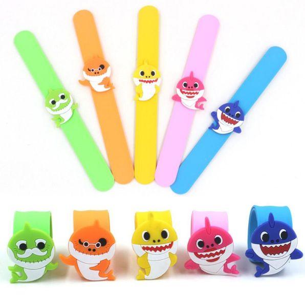 5 estilos baby shark slap snap pulseira pulseira vovô grandma pulseira kid meninos meninas dos desenhos animados jóias kids party presente
