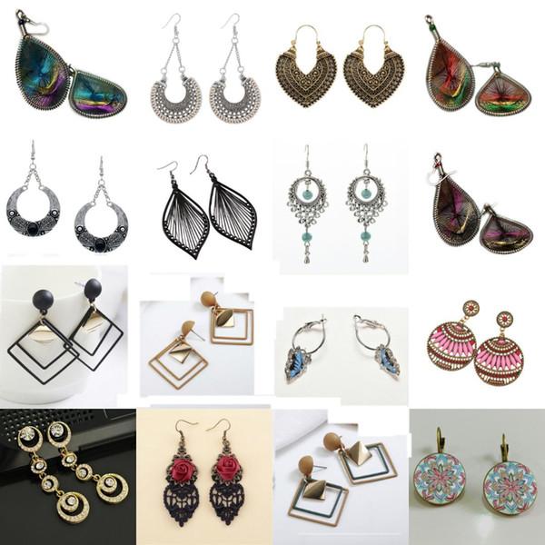 Old Color Fashion Metal Earrings For Women Statement Earrings G Hollow Geometric Jewelry Simple Vintage Drop Dangle