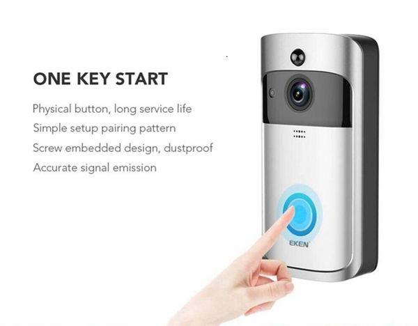 Original EKEN Home Video Wireless Smart Video Doorbell 2 720P HD Wifi Real-Time video Two way Audio Night Vision PIR Visual Ring Interphone