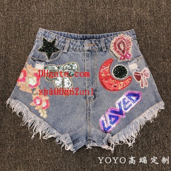 Yoyo Heavy Industry Sequins Book Bead Rhinestone Hundred And Up Cowboy Sexy Hair Edge Shorts Half Skirt Female