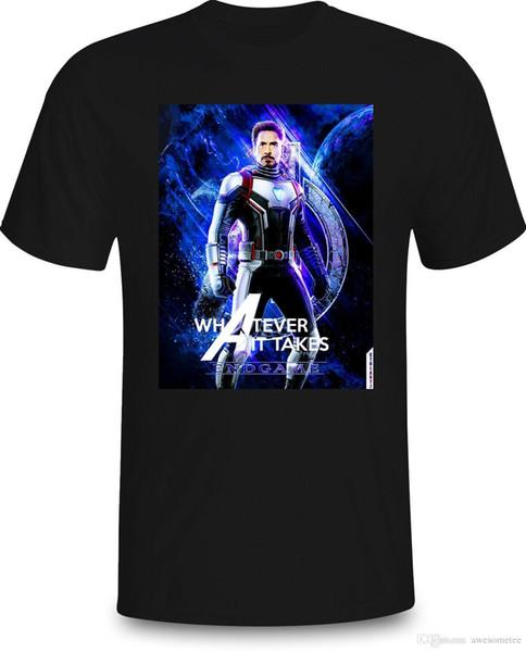 Iron Men-Avengers EndGame Whatever It Take black Navy Tee Shirt Men Women S-3XL