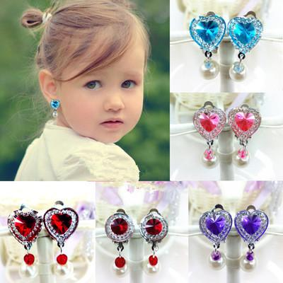 5Pairs Ear Clip Style Earring Soft Cushion Invisible Ear Hanging Clip No Piercing Earring For Children Kids Color Random