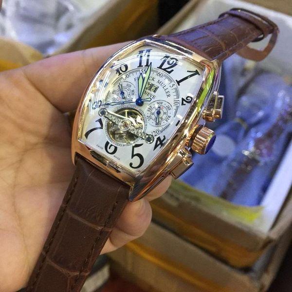 3A nuovo marchio top automatico movimento orologio da uomo tourbillon data immersione orologio meccanico da uomo moda sport orologio di lusso Monterey
