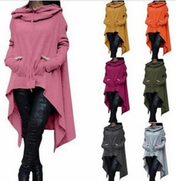 Новая толстовка осень и зима сплошной цвет с длинным рукавом с капюшоном женская одежда пуловер шляпа девушка на улице носить случайный свободный стиль мужской