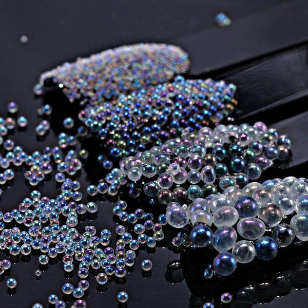 best selling 5g Mermaid Nail Art Caviar Beads Transparent Matte Nail Art Decoration 3d Manicure Balls UV Gel Polish DIY Accessory 4 Color New