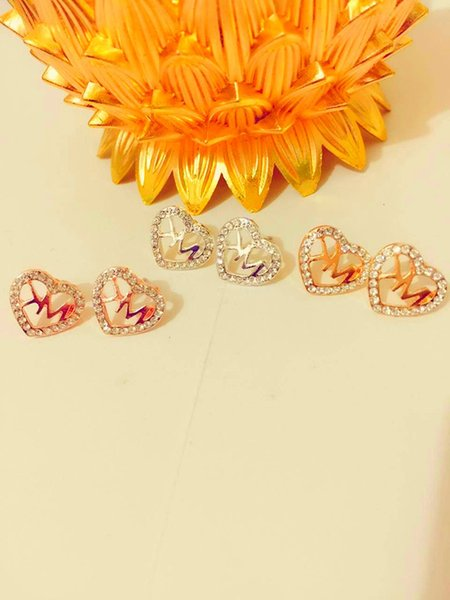 HOT SALE letters with diamond stud EARRINGS brand jewelry for women Wedding Jewerly Bridal Engagement Earrings Gifts 12pairs/24pcs