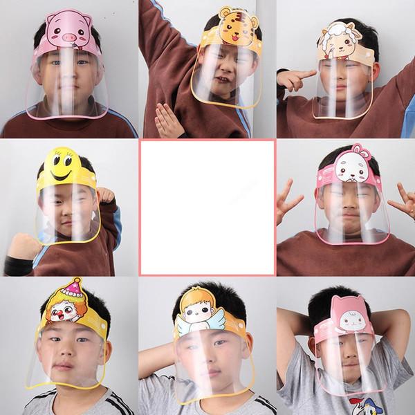 best selling Children Safety Faceshield Transparent Full Face Cover Protective Film Tool Anti-fog Premium PET Material Face Shield Designer Mask hat