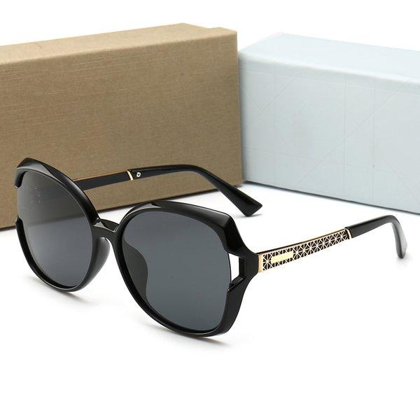 2019 neue mode frauen metall brille erwachsene sonnenbrille damen marke designer mode schwarz eyewear mädchen fahren sonnenbrille a ++ d1278