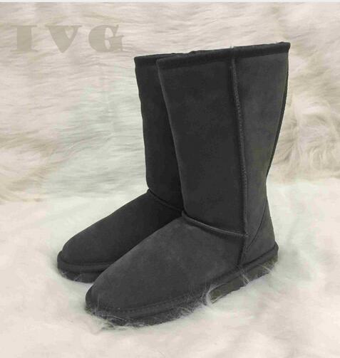Frauen Stiefel australische Frauen Schnee Stiefel wasserdichte Kuh Leder Winter warme lange Stiefel Unisex Schuhe rote Marke Ivg Größe