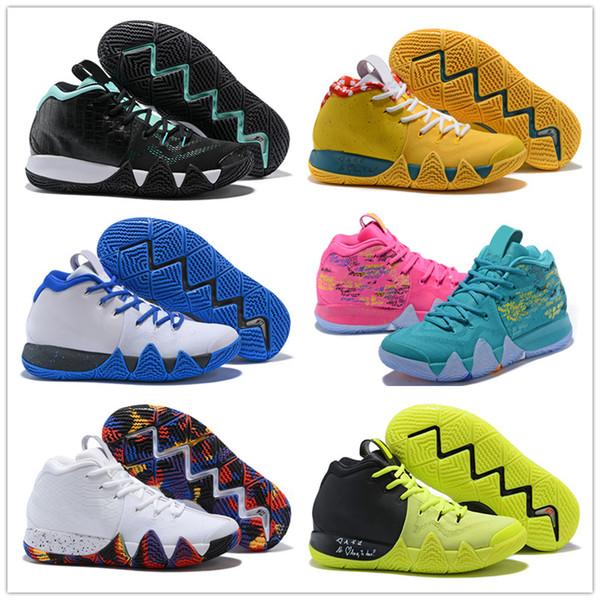 Nuevos zapatos para hombre irving 5 generación 4 deslumbrante all stars negro rojo negro naranja naranja zapatos de baloncesto low top shoesfashion luxury designer a20