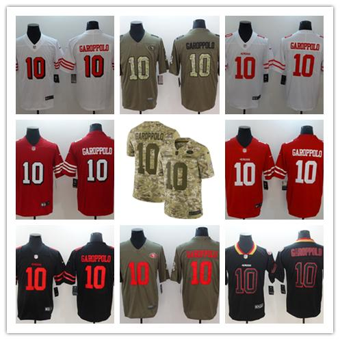 quality design c5983 d543e 2018 New Mens 10 Jimmy Garoppolo Jersey San Francisco 49ers Football Jersey  100% Stitched Embroidery Jimmy Garoppolo Color Rush Football Shirts From ...
