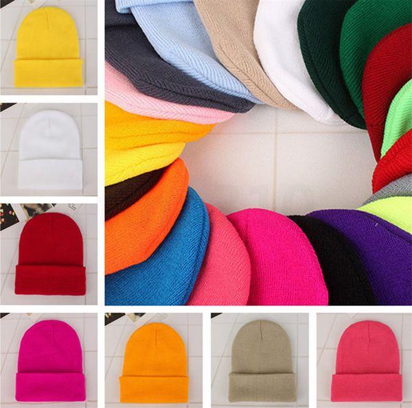 Women's Knitted Cap Autumn Winter Men Cotton Warm Hat Skullies Brand Heavy Hair Ball Twist Beanies Solid Color Wool Hats 50pcs T1I1134